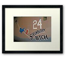 Strawberry Bitch Framed Print