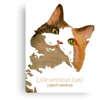 Life Without Cats ...I Don't Think So! Canvas Print