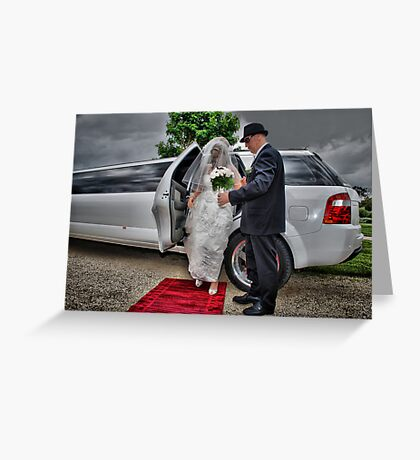 Arrival of the Bride Greeting Card