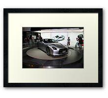 nissan sports concept car Framed Print
