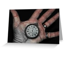 Cracked Time Greeting Card