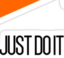 Just Do It Tomorrow Funny Meme Famous Brand Logo Quirky Sticker