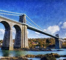 Menai Susupension Bridge by Ian Mitchell