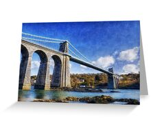 Menai Susupension Bridge Greeting Card