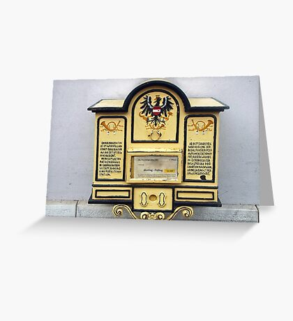 Old Austrian postbox Greeting Card