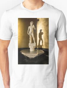 Michelangelo's David and his Shadow Unisex T-Shirt