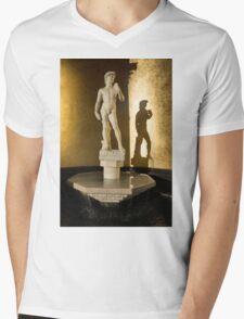 Michelangelo's David and his Shadow Mens V-Neck T-Shirt