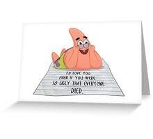 Patrick Star. True love Greeting Card