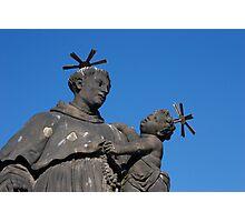 Statue of St. Anthony of Padua on Charles Bridge Photographic Print