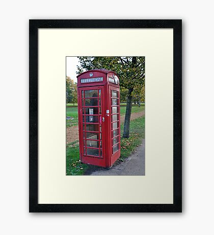 London Red Phone Box Framed Print
