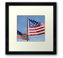 Two Replica US Flags Framed Print