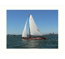 Dutch Leeboard Sailboats Art Print