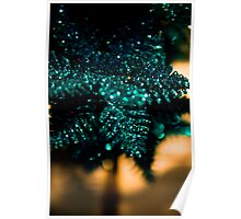 Green Snowflakes Poster