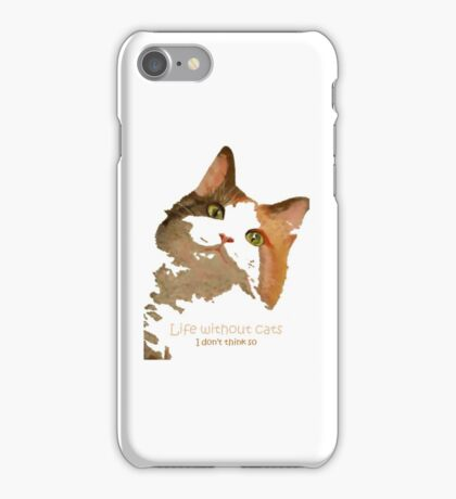 Life Without Cats ...I Don't Think So! iPhone Case/Skin