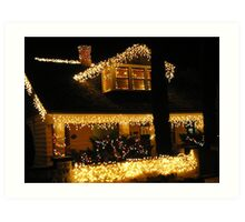Decorated for the Holiday- The Historical town of Bisbee Az Art Print