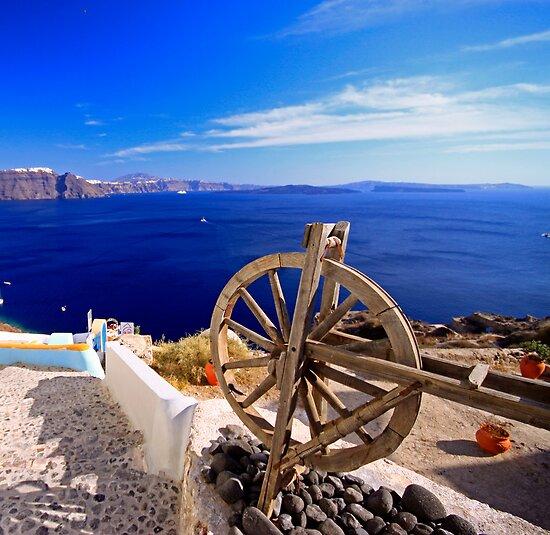 Santorini yarning wheel by joel Durbridge