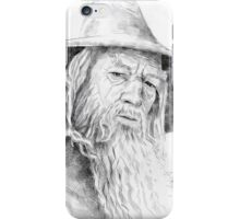 Gandalf the Grey Drawing iPhone Case/Skin