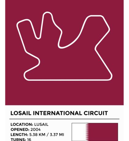 Losail International Circuit - v2 Sticker