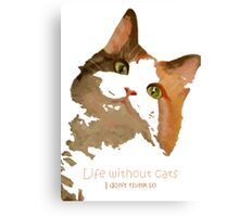 Life Without Cats Vector Canvas Print