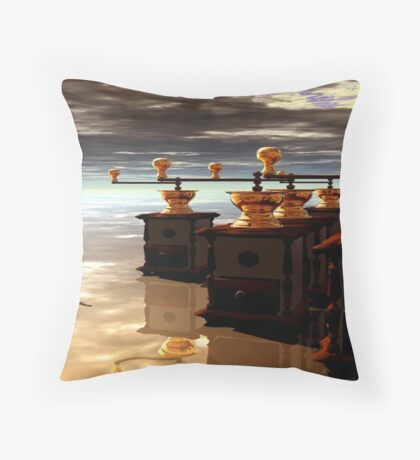 The Coffe Grind Throw Pillow