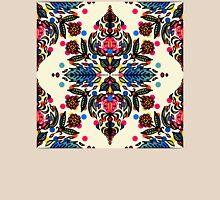 Bright Folk Art Pattern - hot pink, orange, blue & green T-Shirt