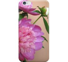 Pink and white bouquet of peonies  iPhone Case/Skin