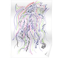 0113 - Soft Lines with tough Patterns Poster
