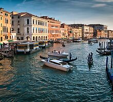 Grand canal Venice Italy by leightoncollins