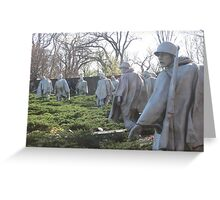 The Nineteenth Parallel- Statues at the Korean War Memorial Greeting Card