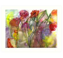 poppies in the sun Art Print