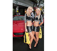 Lycra among the engines, Classic Adelaide Car Rally Photographic Print