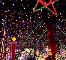 A Window into Christmas..Happiness is not having to pay this light bill! by Larry Llewellyn