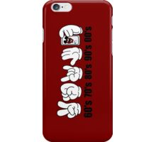 Decades (Peace, Power, Rock,Talk to the hand, Selfie,) iPhone Case/Skin