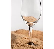 Sand : Glass Photographic Print