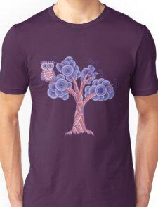 Owl in Violet Unisex T-Shirt