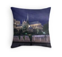 Notre Dame Cathedral Throw Pillow
