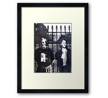 At The White House ( Time Travel ) Framed Print