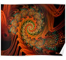 Beaded Tapestry Spiral Poster