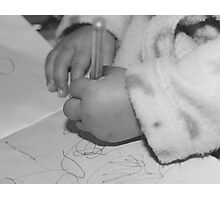 Baby hands drawing Photographic Print