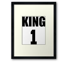 KING (Black) The His of The His and Hers couple shirts Framed Print