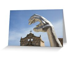 Statue Series - Arggghhhhh it's the hand! Greeting Card