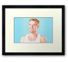 Eddie Thawne- Plain Design Framed Print