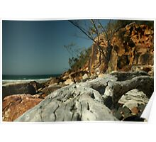 a beach scene Poster
