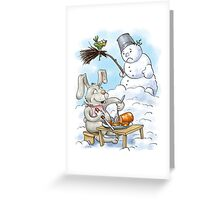The Snacks of the Hare Greeting Card