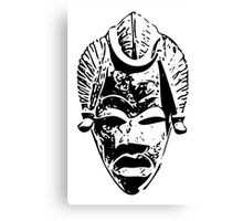 African traditional mask (Black) Canvas Print