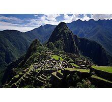 A New 7th Wonder - Machu Picchu - Peru Photographic Print