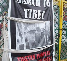 March to Tibet Poster by Angie Spicer