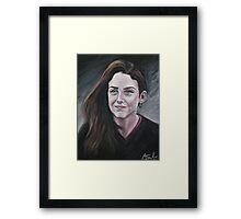 Oil portrait Framed Print