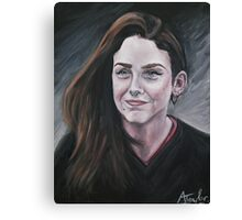 Oil portrait Canvas Print