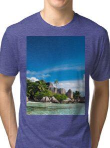 a colourful Seychelles landscape Tri-blend T-Shirt